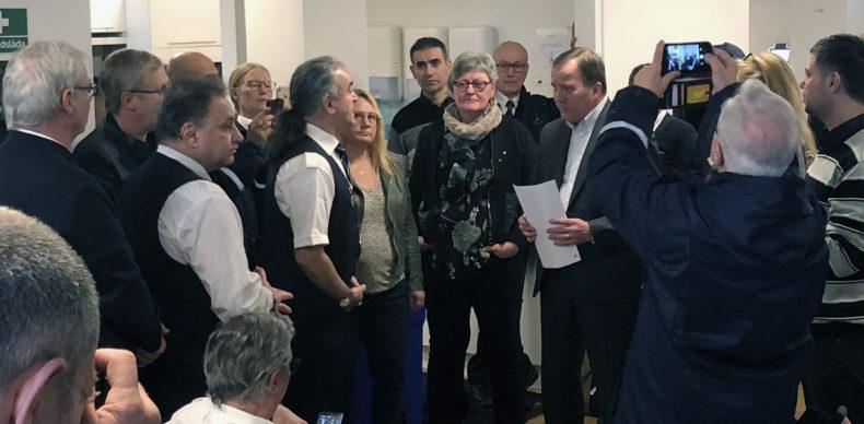 Statsministern besökte bussförare på Gamla Uppsala Buss