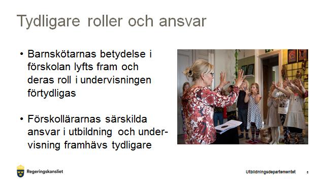 Från utbildningsministerns presentation på pressträff om förskolans nya läroplan 13/6 på Järvaveckan.